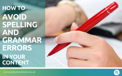 How to avoid spelling and grammar errors in your content