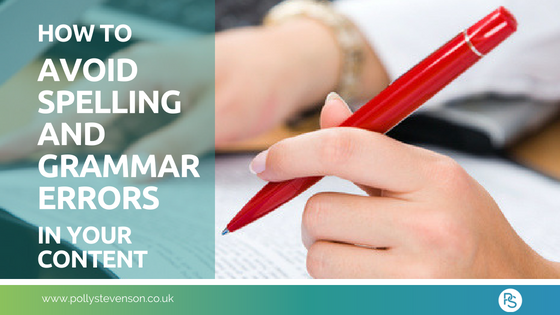 avoid spelling and bad grammar in content