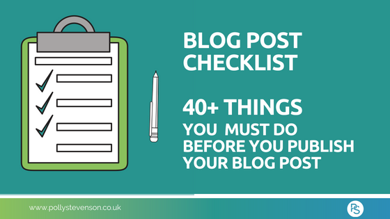 Blog Post Checklist - blog link